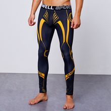 цены на Autumn Men Sweatpants Elastic Compression Leggings Tights Printed Sport Pant Running Jogging Fitness Gym Workout Pant Sportswear в интернет-магазинах