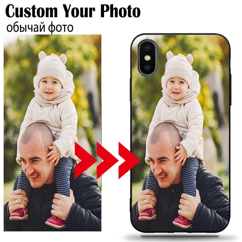 DIY Photo Custom Phone Case Black Soft Cover For Samsung A10 A20 A30 A40 A50 A50S A70 A80 A10E A9 Plus 2018 As Christmas present