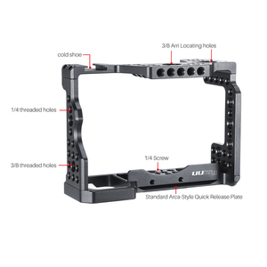 Image 4 - UURig C A73 소니 A7III A7R3 A7M3 용 메탈 카메라 케이지 리그 탑 핸들 그립이있는 콜드 슈 마운트 Arca 스타일 퀵 릴리스 마운트