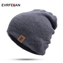 Evrfelan горячая распродажа, вязаный зимний головной убор, шапка женская, женские теплые шапочки, шапка мужская, шапка женская зимняя, шапки женские