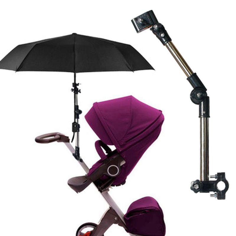 Adjustable Mount Stand Baby Stroller Accessories Baby Stroller Umbrella Holder Multiused Wheelchair Parasol Shelf Bike Connector