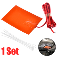 1pc 250W 9x13cm Engine Oil Pan Sump Tank Heater Pad 220V Silicone Heater Pad Block Hydraulic Tank Heating Plate Heater Parts     -