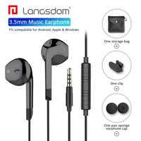 Langsdom fone de ouvido in-ear para iphone xiaomi estéreo de alta fidelidade fone de ouvido com microfone fones de ouvido para xiaomi samsung fone de ouvido