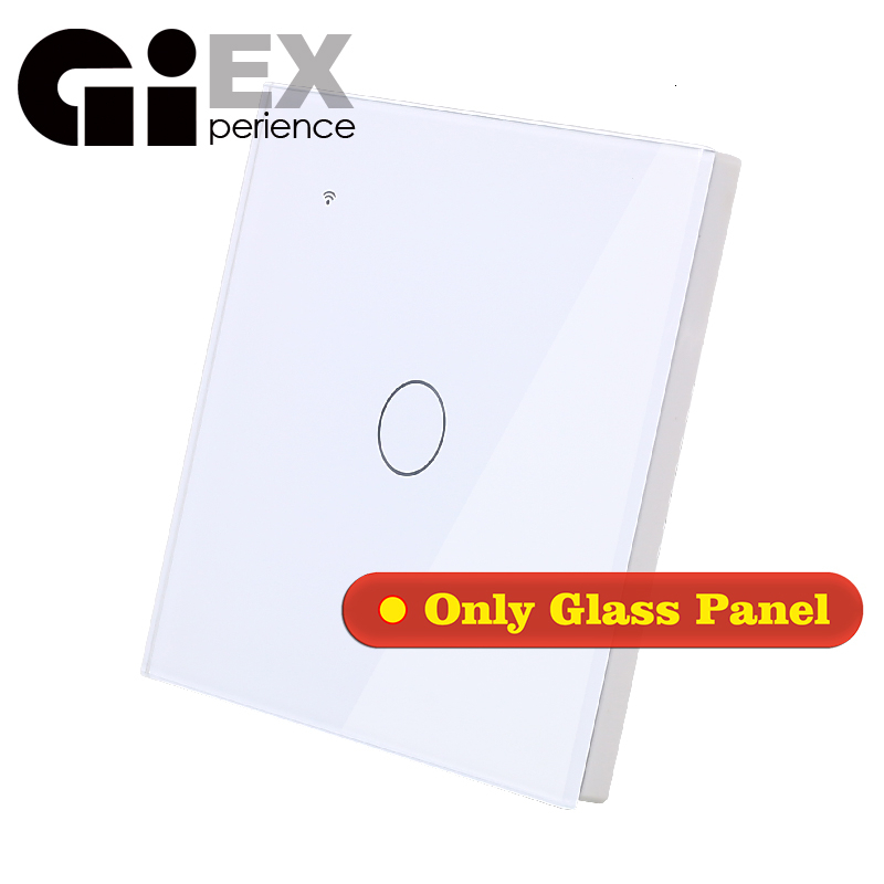 WIFI Touch Light Wall Switch Round White Glass Panel Only Glass Panel (No Switch)