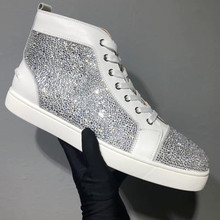 Red bottom High-top Men Shoes Red Bottom Shoes Women