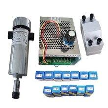 Air cooled 0.8kw DC110V 20000RPM CNC spindleMotor Kit ER11/ chuck 800W Spindle Motor + Power Supply speed governor For Engraving