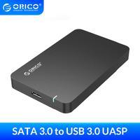 ORICO 2 5 zoll HDD Gehäuse SATA 3 0 zu USB 3 0 Festplatte SSD Externe Speicher Fall Box Unterstützung 2TB UASP Werkzeug Kostenloser HDD Fall