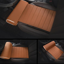 Car Seat Cushion Foot Support Pillow Leg Longer Auto Leather Knee Pad Thigh