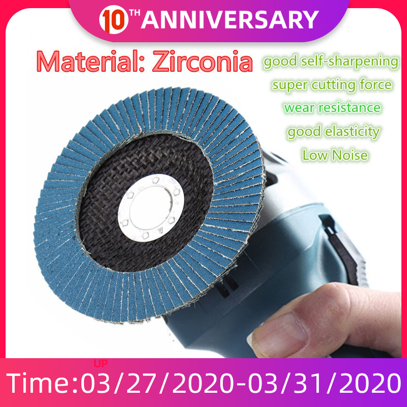 13000 Rpm 40/60/80/120 Grit Grinding Wheel Flap Disc 125mm 5