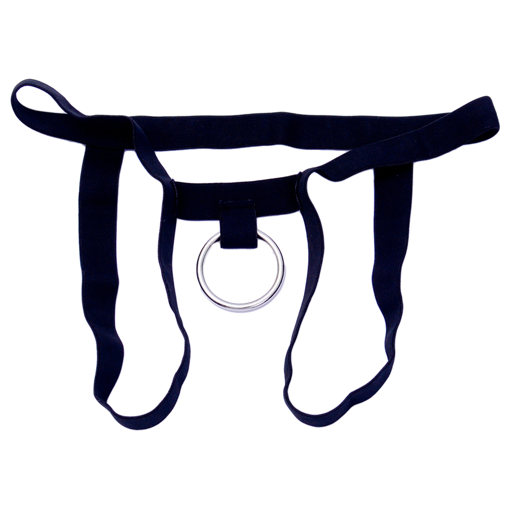 <font><b>Sexy</b></font> Mens G-string Underwear Hollow Ring Pouch <font><b>Jockstrap</b></font> Men Thong Briefs Gay Underwear Tanga <font><b>Hombre</b></font> Black image
