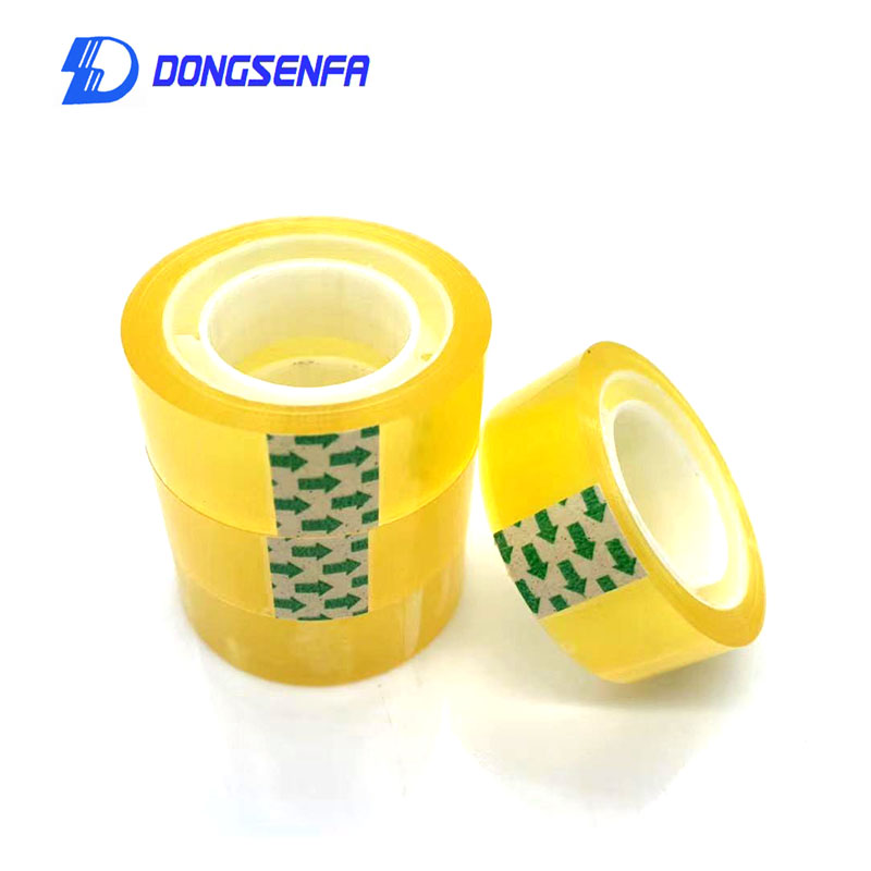 DONGSENFA 8pcs 18mm Width Clear Transparent Tape Sealing Sticky Tape Rolls Home Office Packing Supplies School Stationery