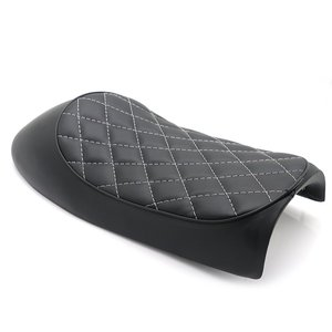 Motorcycle CG125 Leather Retro Vintage Saddle Seat Hump Leather Seats Cafe Racer Rhombic Shape Cushion