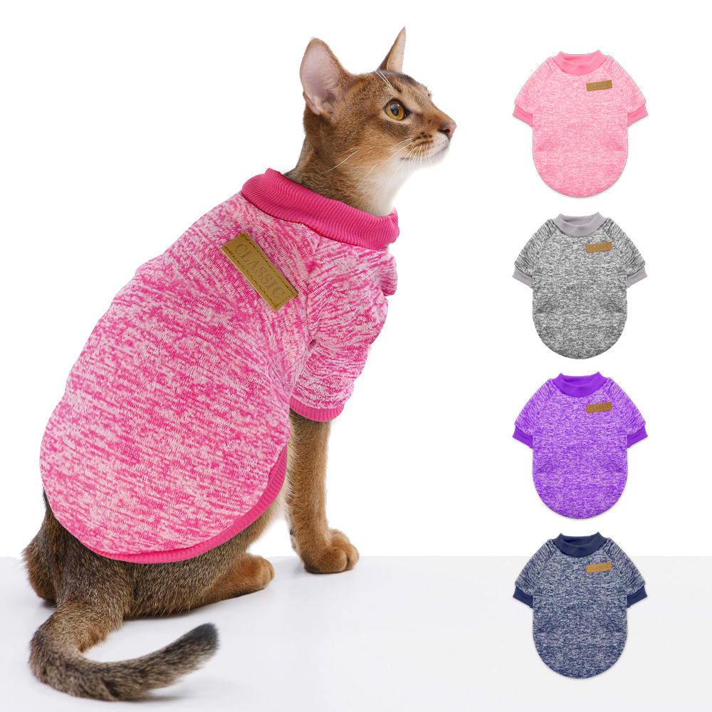 Winter Dog Cat Clothes Small Dog Chihuahua Clothes Sweater Costume Dogs Cats Puppy Coat Kitten Outfit Clothing Pink