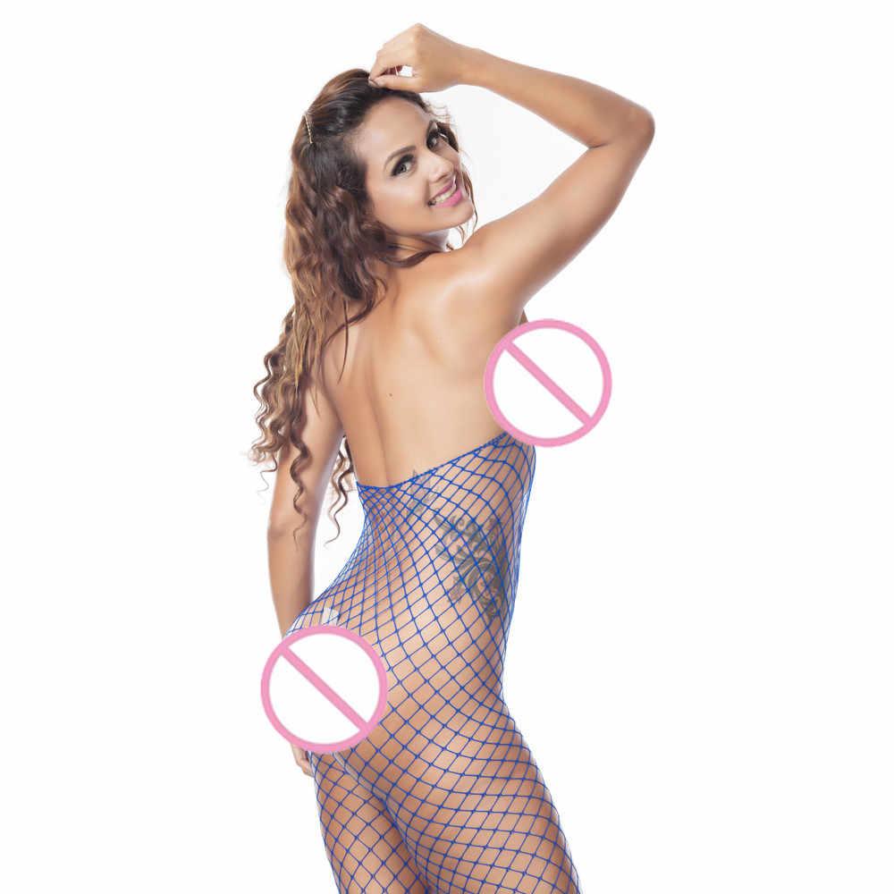 Bielizna damska seksowna bielizna grils kabaretki Sheer otwarte krocza bodystocking bielizna erotyczna damskie Body komplet bielizny #32
