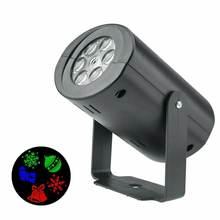 Светодиодный прожектор с 12 рисунками Рождественская Лазерная