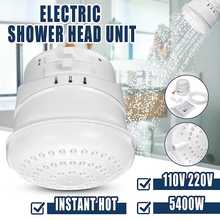 Quick delivery 5400W 110V/220V Electric Shower Head Instant Water Temperature Bath Shower Heater with 2m Hose Bathroom Heater