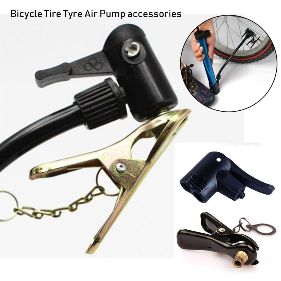 Inflator Pump Nozzle//Clips FV AV Valves Multi-use Connector Head Tyre Air Pumps