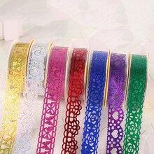 1 ПК DIY декоративный липкий васи кружево рулон лента самоклеющаяся клей лента наклейка