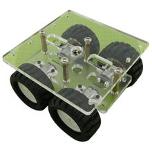 Transparent Acrylic N20 4WD 2 Layer Smart Car Chassis Robot DIY Kit