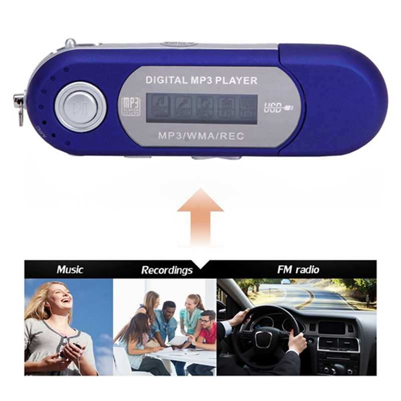 Hot-A screen MP3 U disk No. 7 battery card USB in-line radio cassette player Random