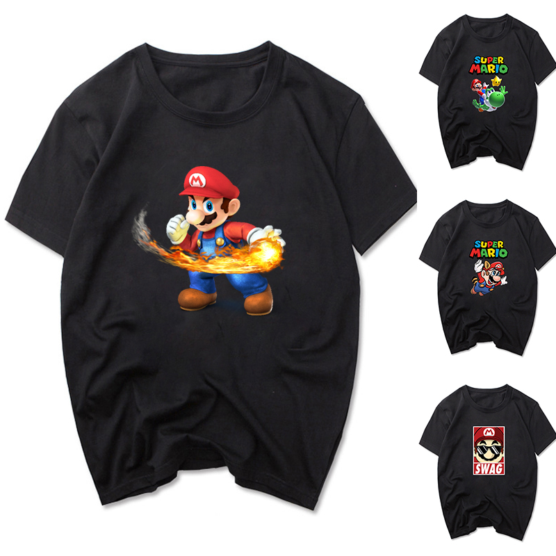 Super Mario Short Sleeve T-Shirt Summer New Men T Shirt Funny Gamer Tshirt Fashion Women Tee Shirt Oversized Clothing O Neck