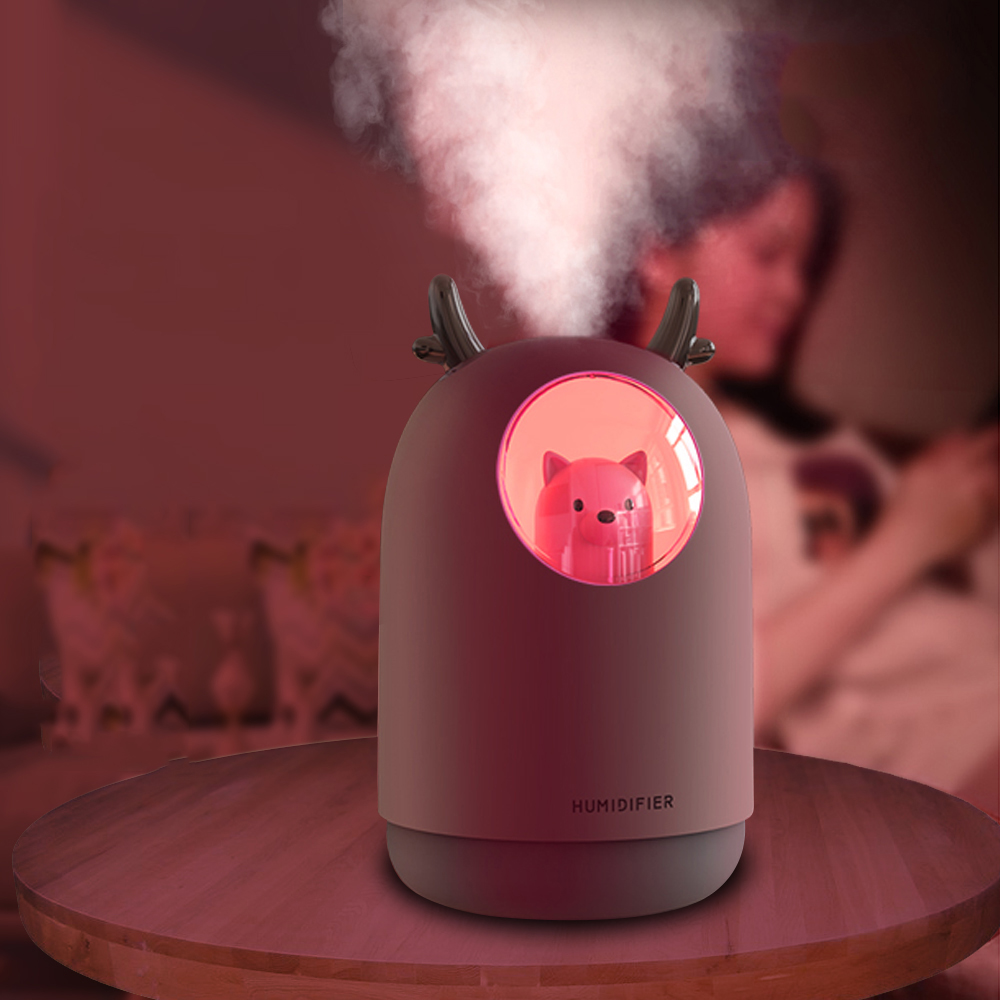 New Cute Bear Humidifier 300ml mini USB Diffuser Bedroom Mute Air Humidifier
