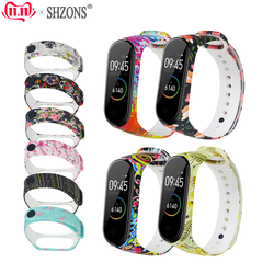 Silicone Strap For Xiaomi Band 4 M4 Bracelet Pattern Personalized Print Replacement Sport Watch Wrist Strap for Xiaomi Bracelet