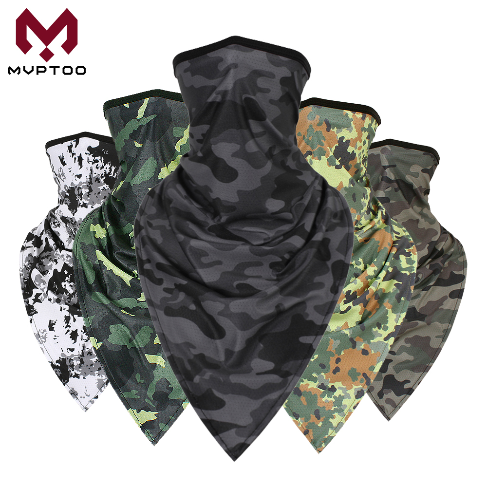 Tactical Camouflage Balaclava Motorcycle Face Shield Neck Gaiter Tube Scarf Moto Motorbike Biker Head Mask Headband Men Girls