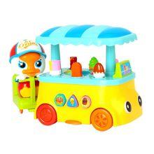 Красочный грузовик для мороженого с музыкальным освещением электрическая детская игрушка-головоломка