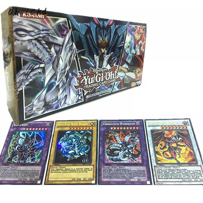 Yu Gi Oh cartes de jeu Carton Yugioh Collection pour s'amuser avec des jouets légendaires pas de répétition Anime japon 100 pièces/ensemble fantaisie et science-fiction C90
