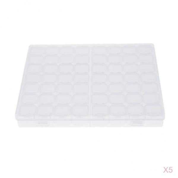 5 Pcs 56 Grid Storage Box Beads Pill Coin Button Holder Mini Thing Container