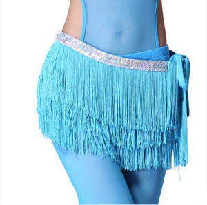 Belly dance costumes sexy silver tassel belly dance belt for women belly dance costume hip scarf