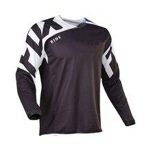 Mountain bike Long Sleeve T - shirt, mountain bike Resistance T - shirt, Cross - Country MX, mountain bike Clothing RIDE FOX MTB