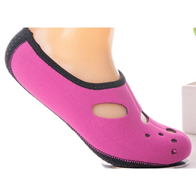 Мужские и женские акватуфли, однотонные акватуфли, летние пляжные туфли, носки, морские кроссовки, Тапочки