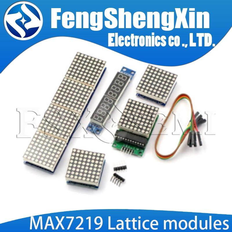 MAX7219 Lattice Modules  4 In One Display Digital Tube Display Module Single Chip Module 8x8 Common Cathode