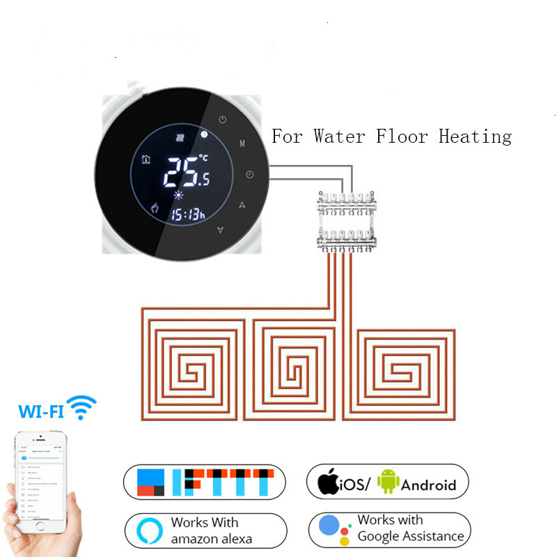 Wifi Smart 3A Water Thermostat Temperature Controller Tuya APP Remote Control For Water Floor Heating  Work With Google Home
