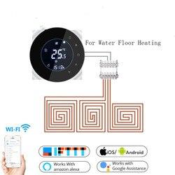 Wifi inteligente 3a água termostato controlador de temperatura tuya app controle remoto para piso água aquecimento trabalho com o google casa