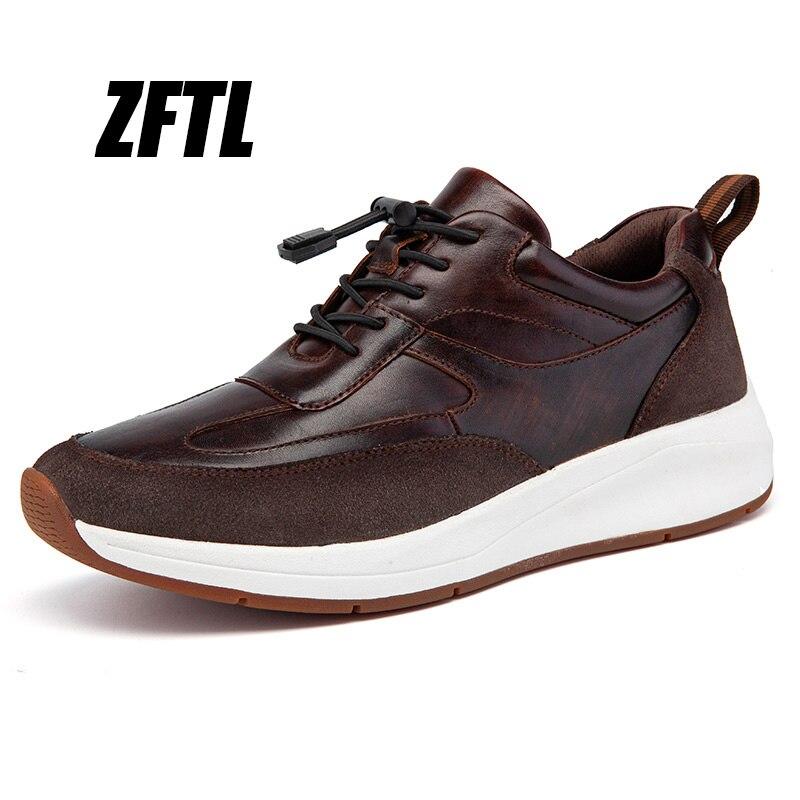 ZFTL chaussures de sport en cuir véritable pour hommes, chaussures décontractées, de course, de marche et de marche, nouvelle collection 2020   AliExpress