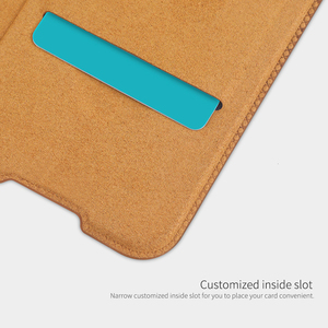 Image 4 - For Xiaomi Redmi Note 8 Pro / Note 8T Case NILLKIN QIN Classic Flip PU Cover Vintage Flip Leather Back Cover With Card Slot