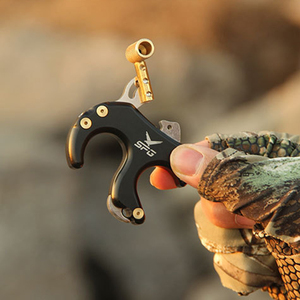 Image 2 - Rotate Clamp Compound Bow Release Aids Four Finger Gripper Archery Release