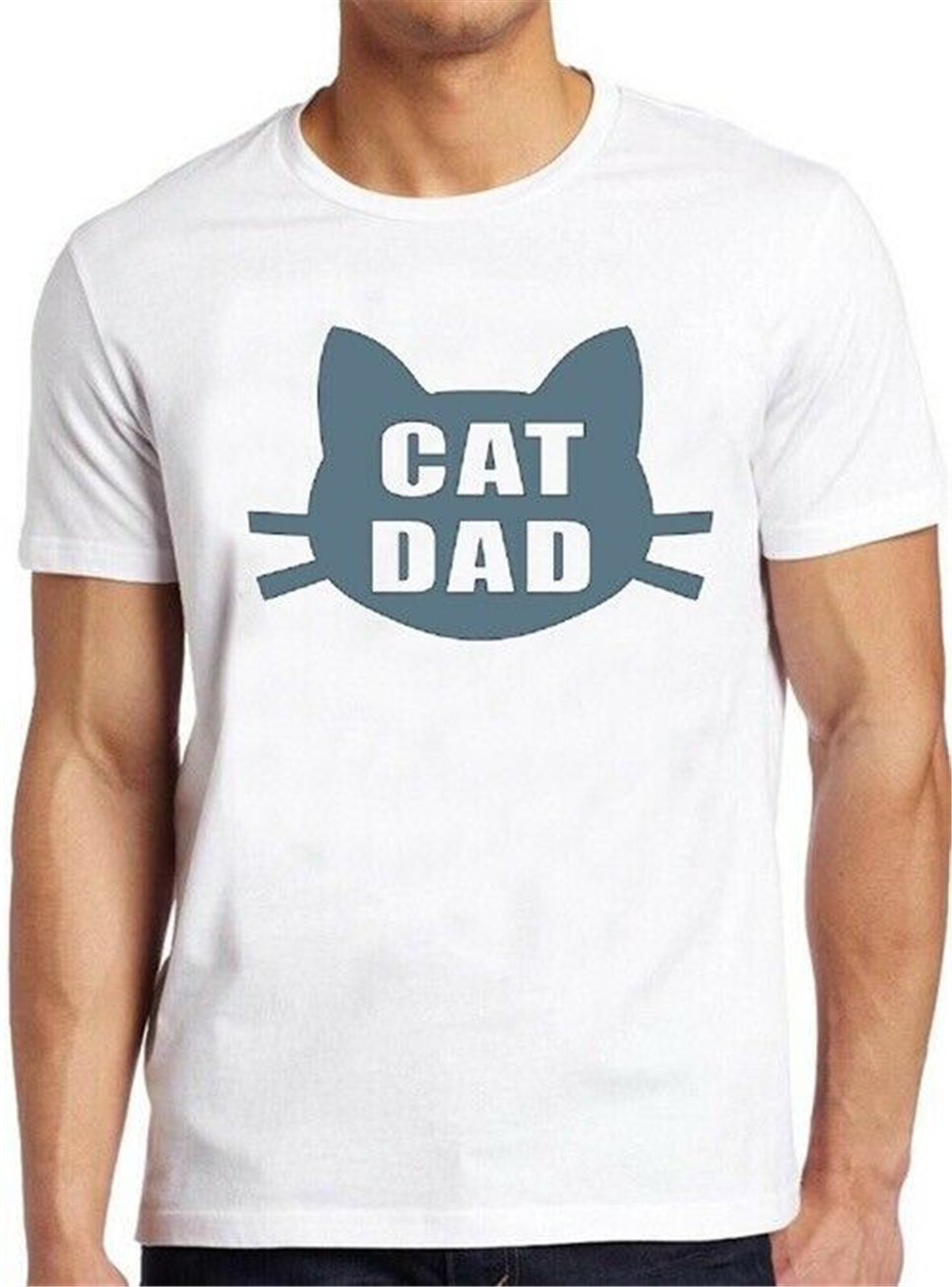 Cat Dad T Shirt Best Ever Funny Saying Pun Present Slogan Cool Gift Tee 122 Teenage Pop Top Tee Shirt image