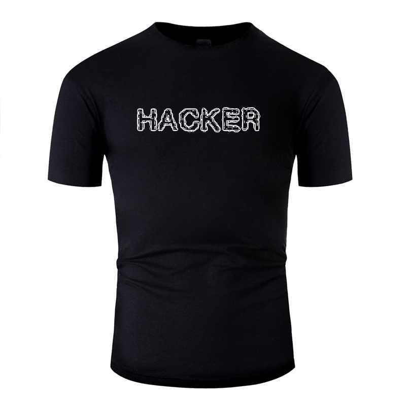 Personalizzare Hacker Tshirt Per Gli Uomini Rotonda Collare Manica Corta In Cotone T-Shirt Tee Magliette e camicette