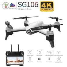 Sg106 wifi 4k câmera de fluxo óptico 1080p hd câmera dupla vídeo aéreo rc quadcopter aeronaves quadrocopter brinquedos criança e agradável presente