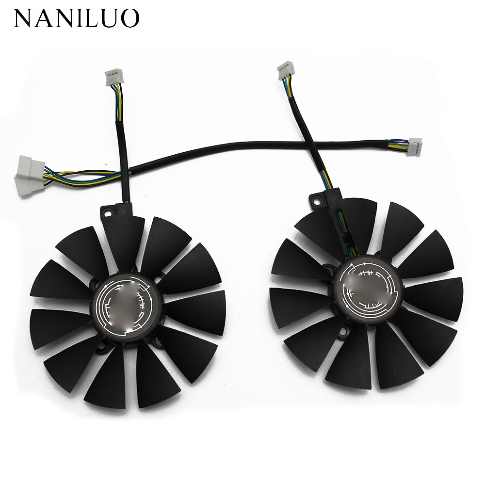 88MM T129215SU Fan For ASUS GTX1060 1070 Ti RX 470 570 580 Dual OC Graphics Card