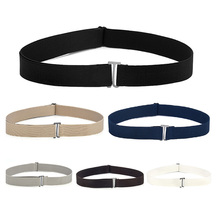 New Waistband Women Invisible Belt Buckle Plastic Comfortable Elastic Belt For Women Men Adjustable No Show Web Belt For Jeans