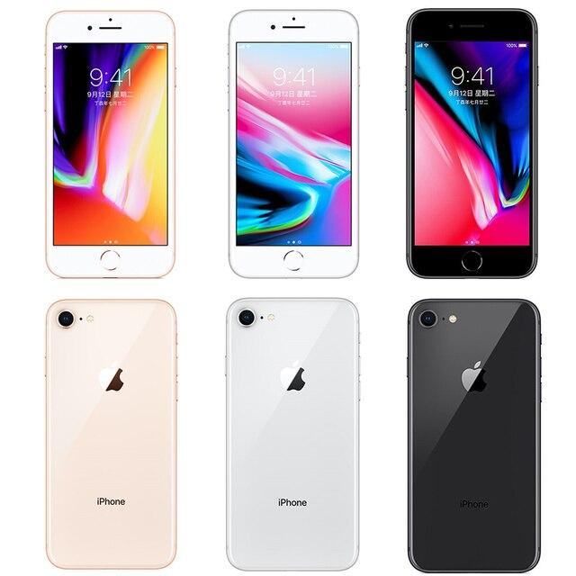 Original débloqué Apple iPhone 8 4.7 pouces Hexa Core 2GB RAM 64GB/256GB ROM 12MP & 7MP caméra iOS (99% nouveau) NFC