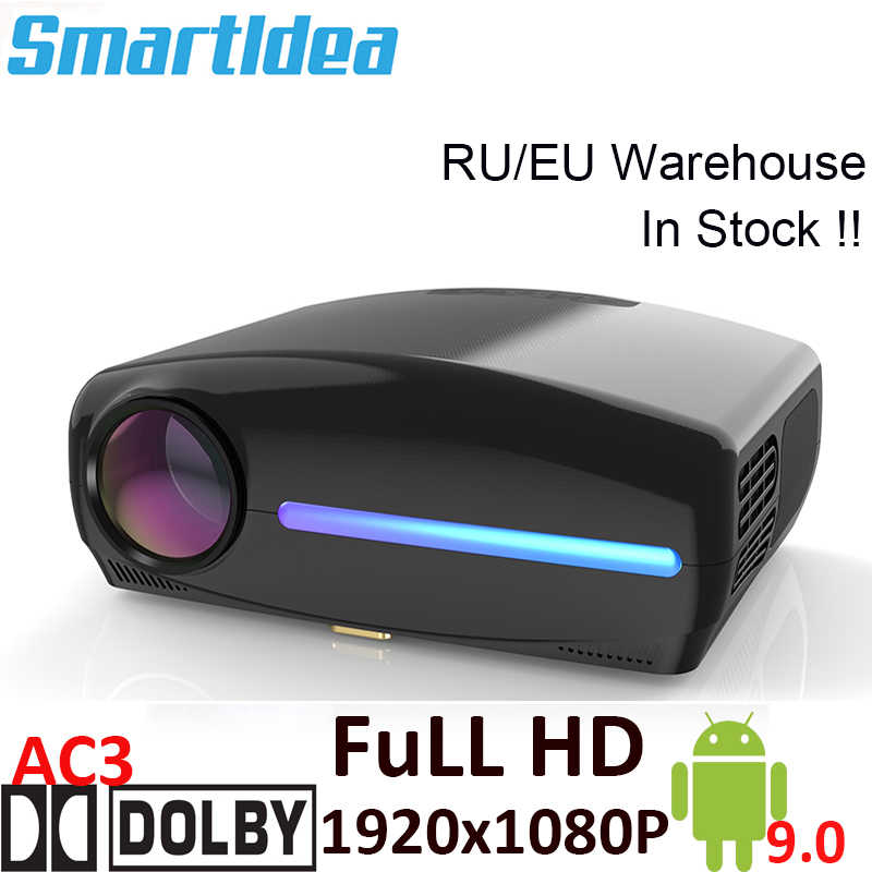 Smartldea S1080 1920*1080P LED projecteur HD, clé de voûte numérique 4D, Android 9.0 WiFi en option, HDMI Smart Proyector,3D Home Beamer