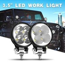 4 بوصة 3 بوصة سيارة LED ضوء العمل مستديرة واسعة الفيضانات بقعة إضاءة شعاعية 6000K الأبيض للمساعدة 4x4 على الطرق الوعرة UAZ SUV شاحنة ATV قارب كاماز