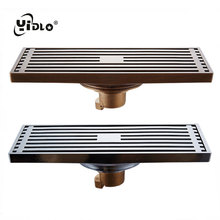 Bathroom Drain strainer Euro Style  Antique Brass Drains Shower 8*20 cm Floor Drain Deodorant Anti-blocking Kitchen Waste Drain frap high quality floor drain 20 8 2 cm euro antique brass floor drains cover shower waste drainer bath accessories y38072