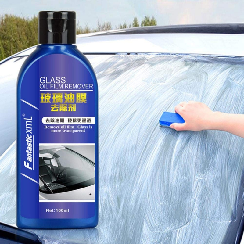 Car Glass Film Remover Strong Decontamination Cleaner Car Maintenance Windshield Cleaning Agent Glass Remove Oil Film 100ML